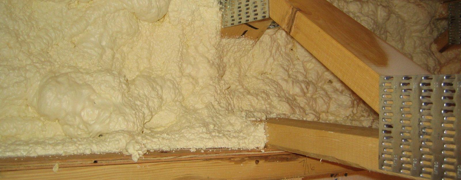 утеплить деревянные стропила ППУ
