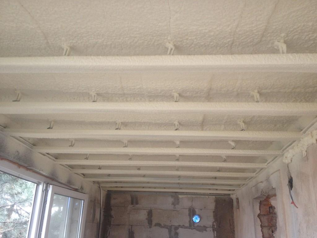 Утепление балкона и лоджии пенополиуретаном ППУ 2