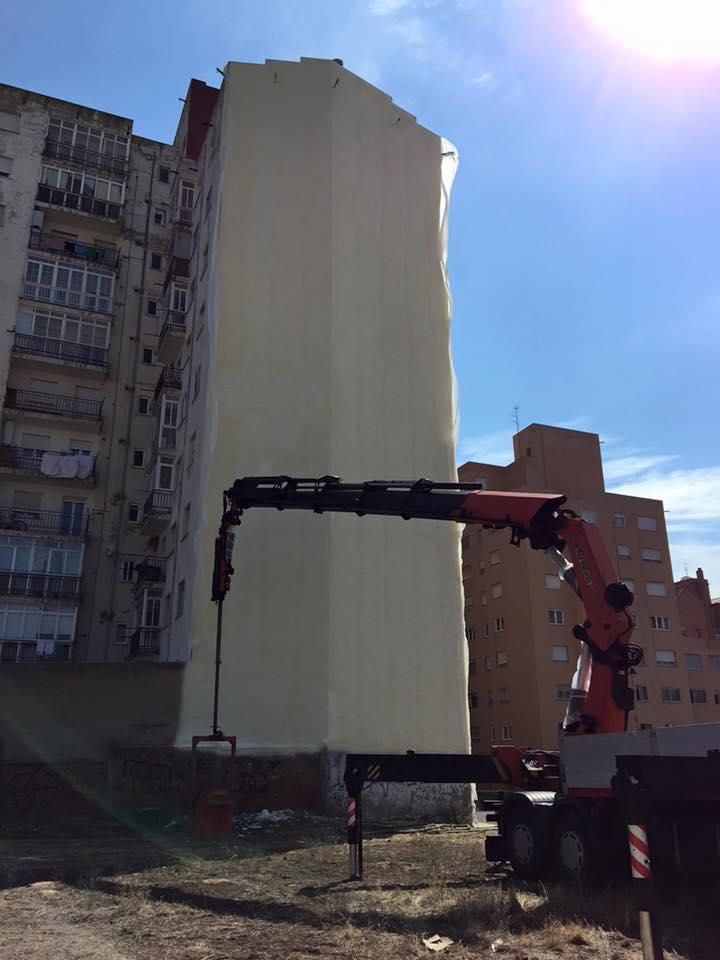Poliuretanos Aismar ППУ напыляемый пенополиуретан на фасаде