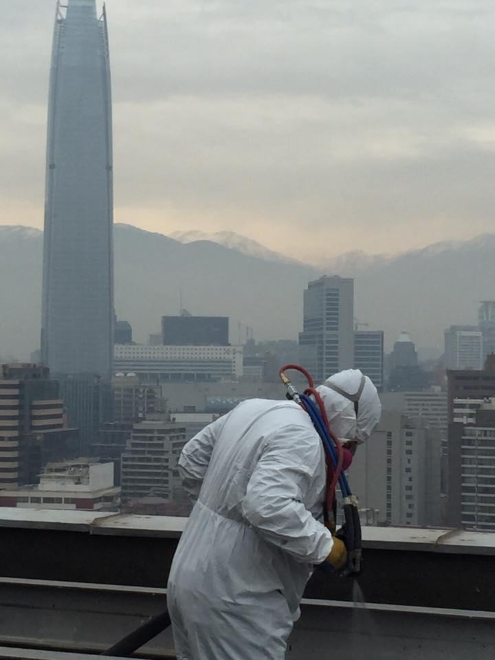 Ramon Andres Molina Mutis напыление полимочевину на плоскую кровлю небоскреба