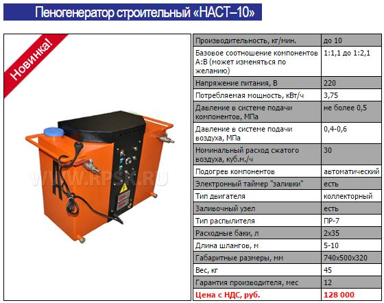 Пеногенератор строительный НАСТ–10 Техмастрой ппу оборудование пенополиуретан .JPG