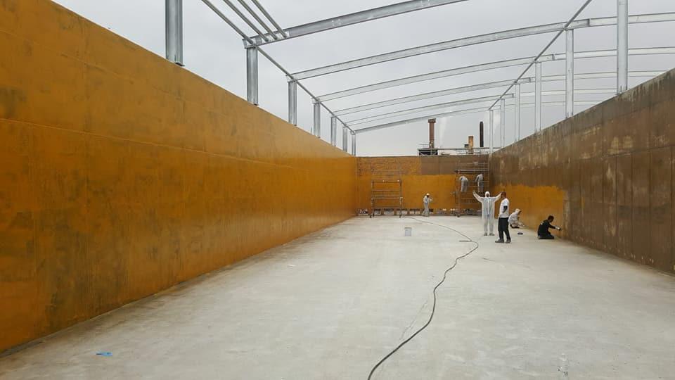 Напыление полимочевины на бетон_ подготовка основания эпоксидный праймер